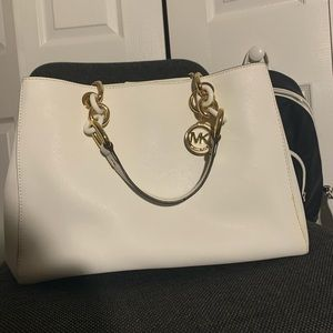 White and Gold Michael Kors Purse